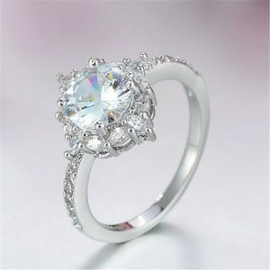 💍.925 Silver women's promise engagement ring